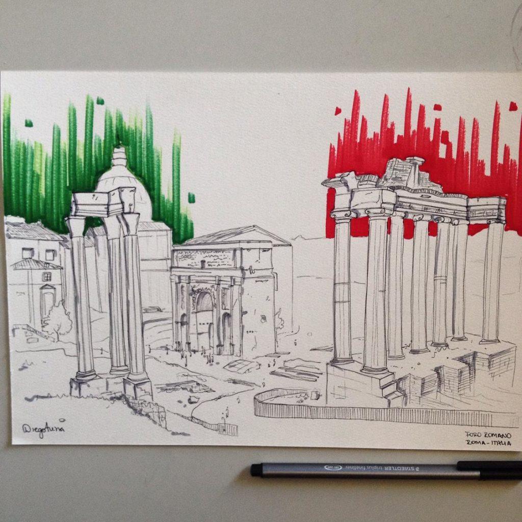 Sketch Foro Romano