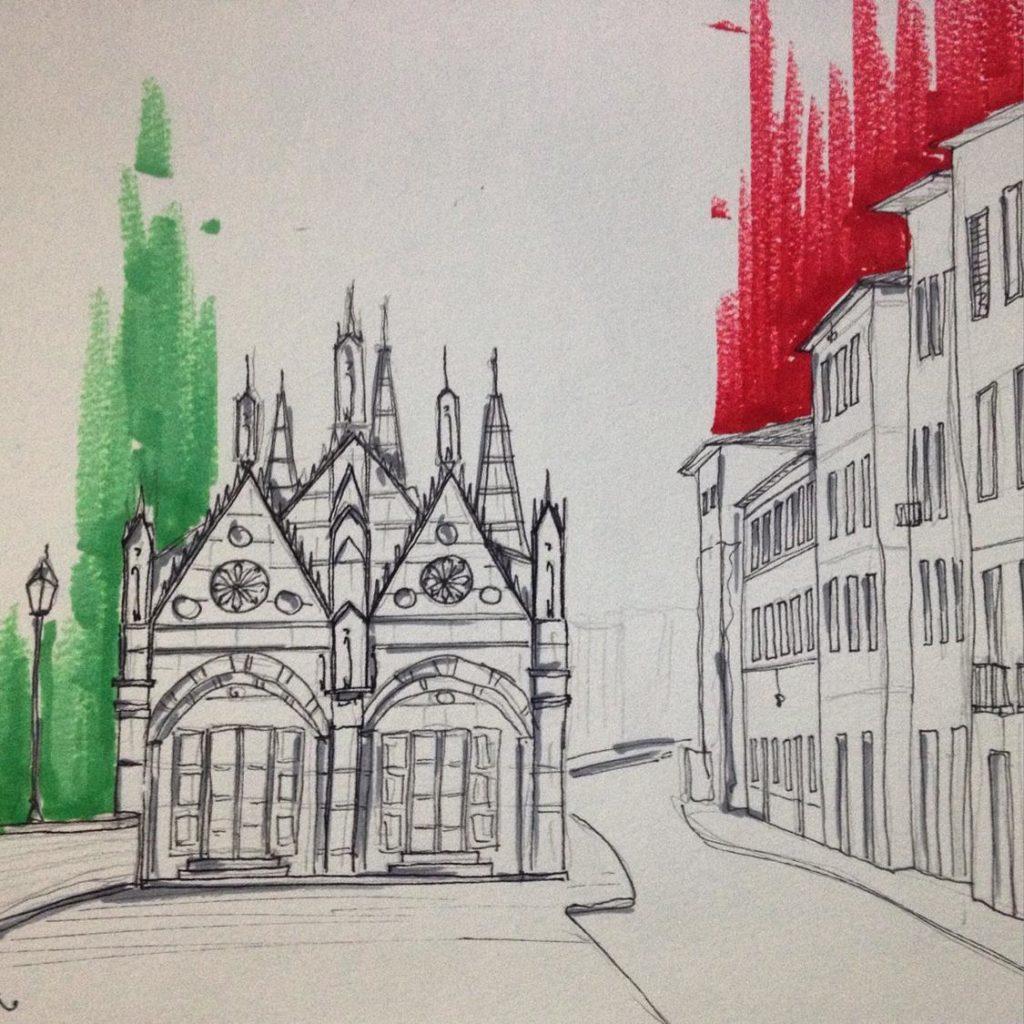 Sketch Santa Maria della Spina