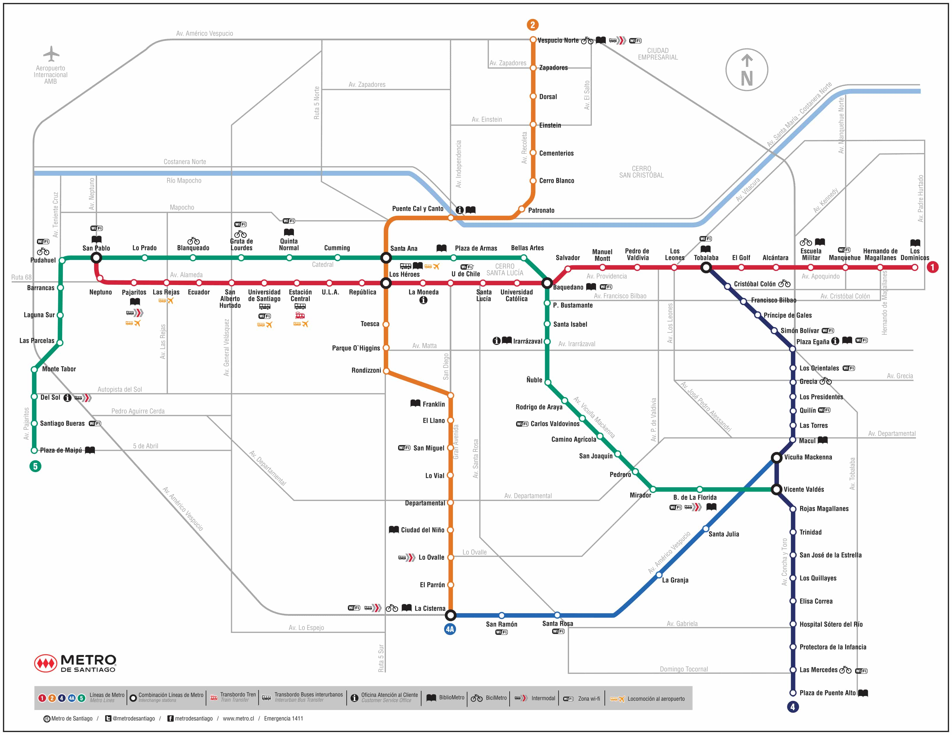 Mapa Metro Santiago