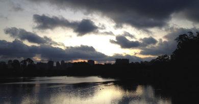 parque do ibirapuera por do sol