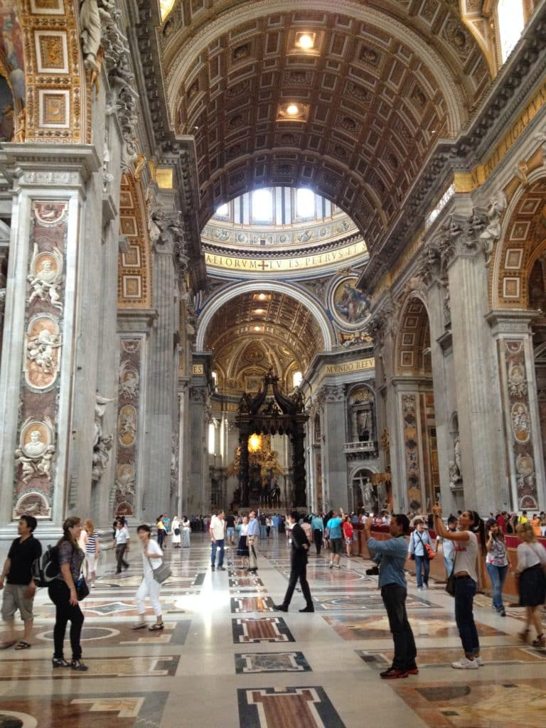 O interior do Vaticano