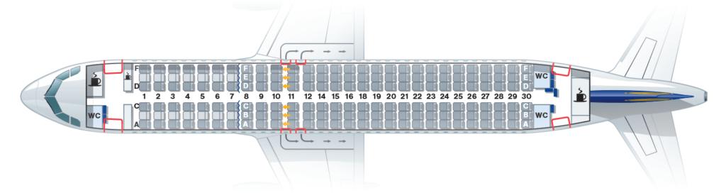 tipo de aviões - mapa a320