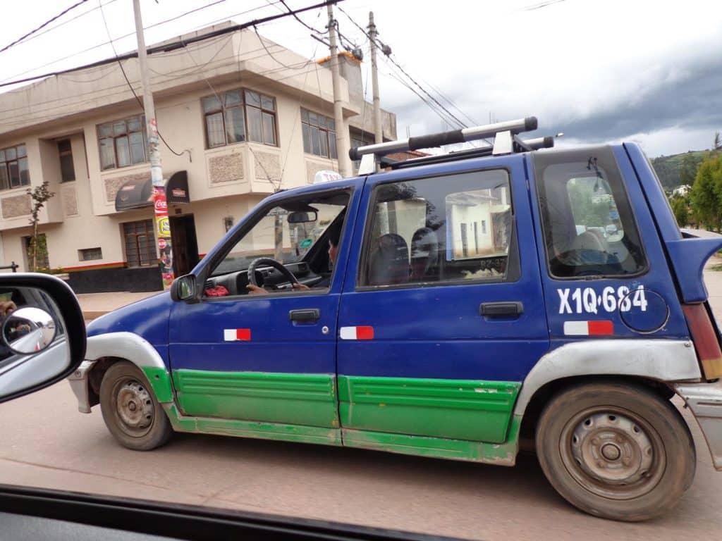 Taxi em Cusco