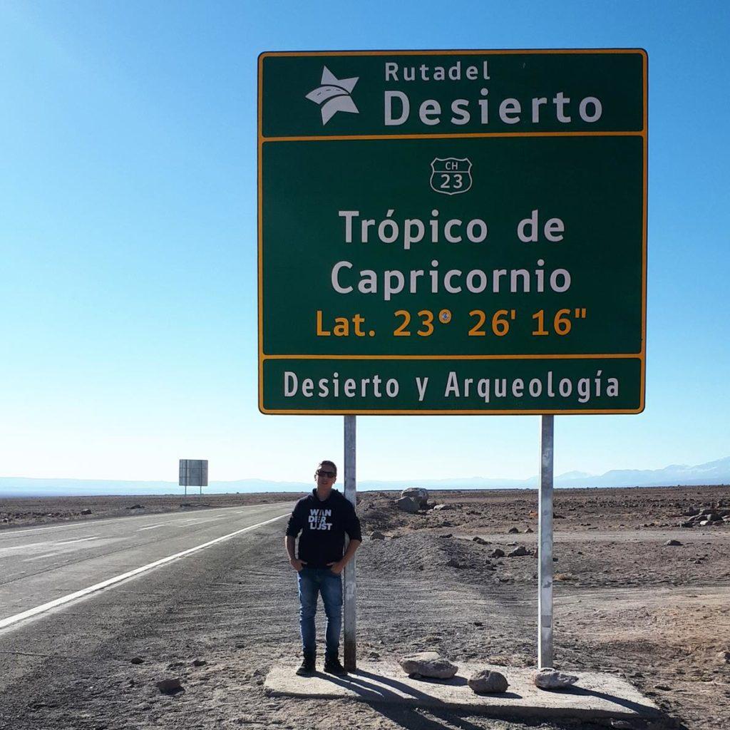 Tropico de Capricórnio no deserto do Atacama