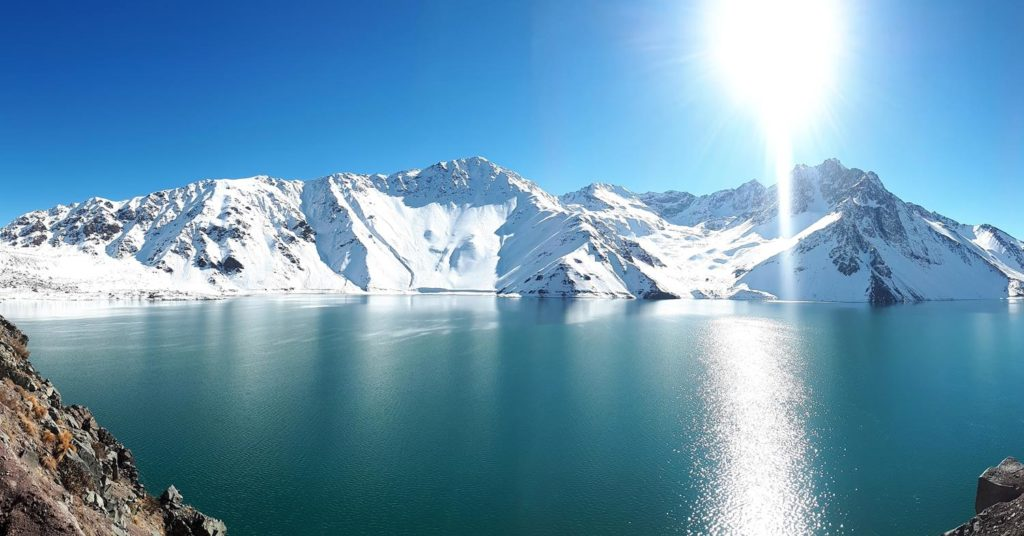 Embalse el Yeso no inverno