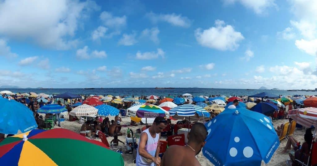 Praia de Copacabana no Ano Novo