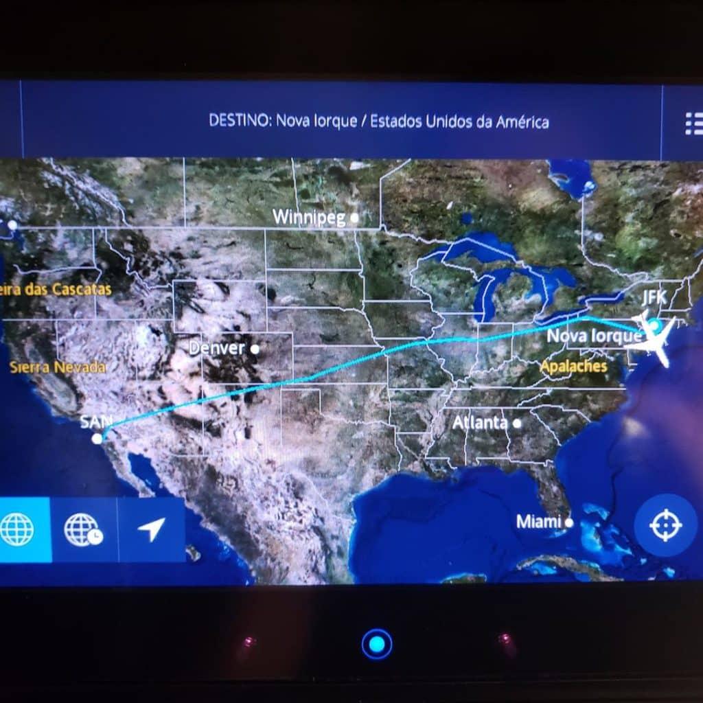 Mapa de San Diego até Nova York