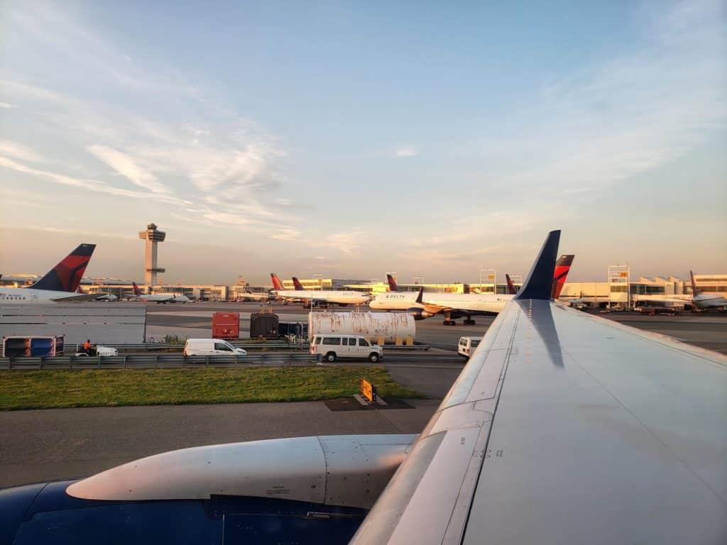 Pousando em Nova York - delta airlines