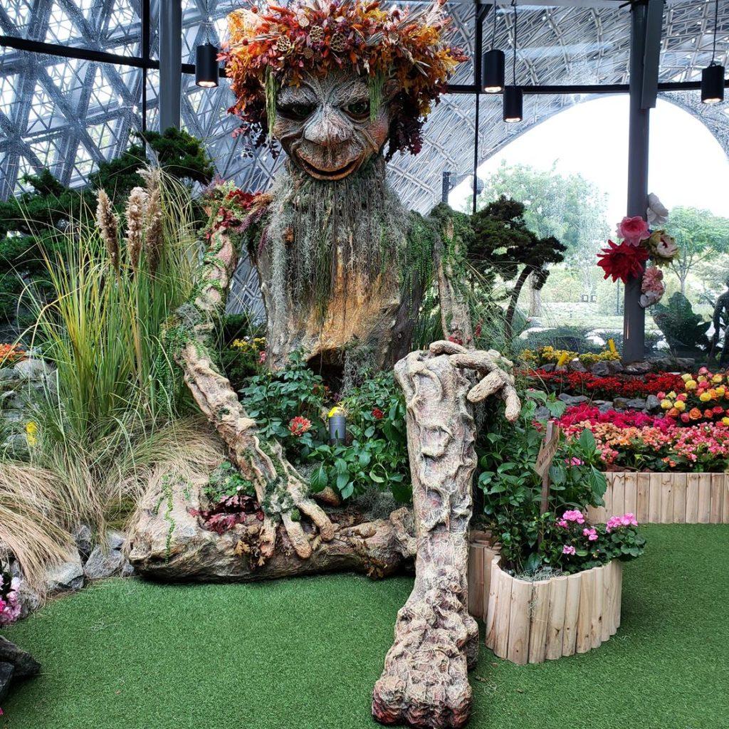 escultura no Floral Fantasy Singapura