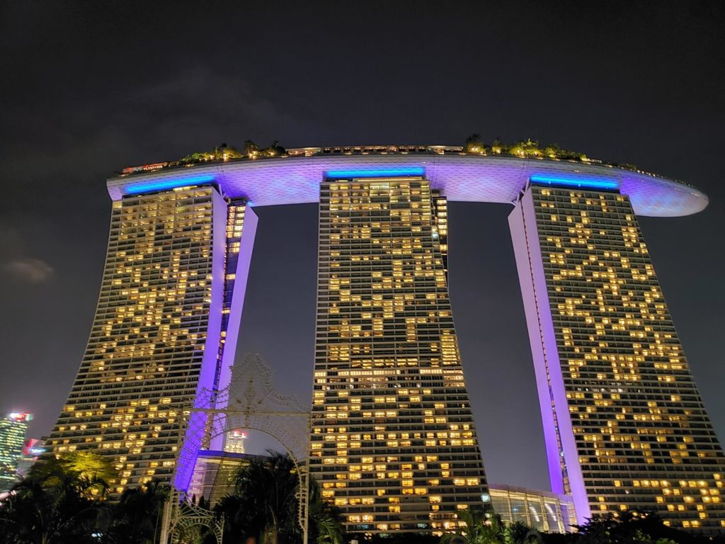 O hotel Marina Bay Sands em Singapura