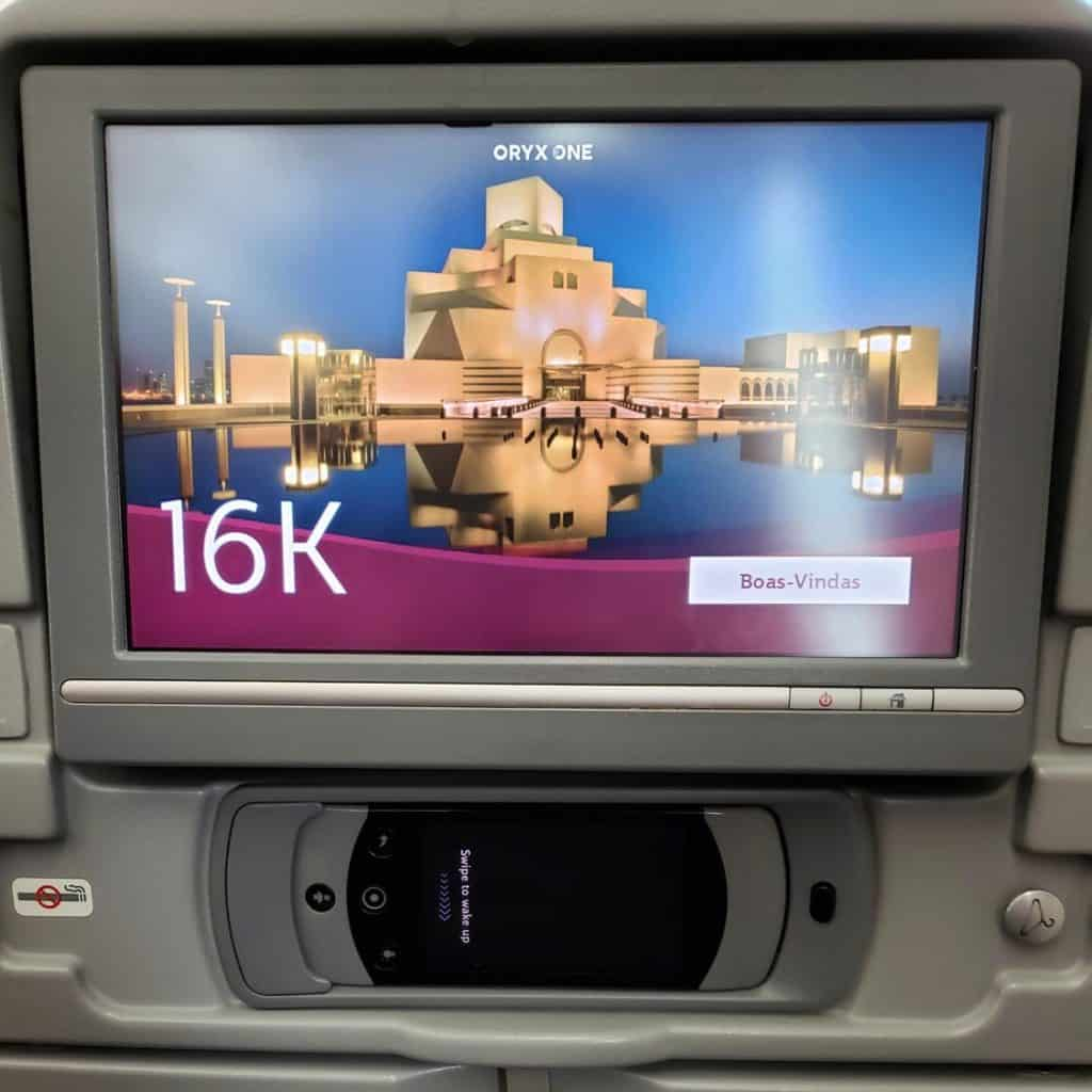 Qatar Airlines de São Paulo até Bangkok - Serviço de Bordo