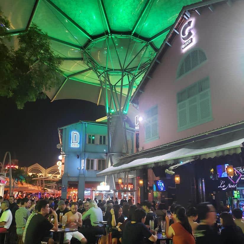 O que fazer a noite em Singapura - Clarck Quay Singapura