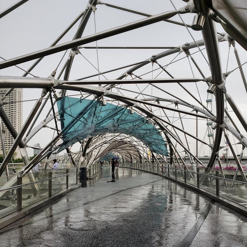 Helix Bridge Singapura - o que fazer em Singapura