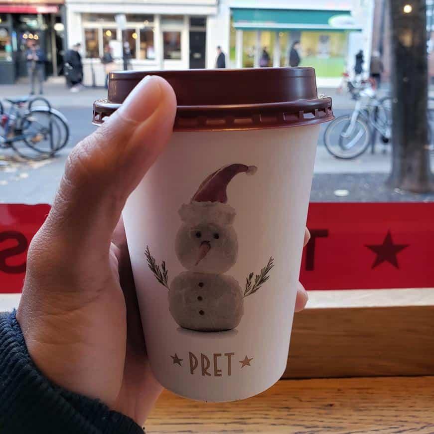 Pret a Manger - onde tomar cafe em Londres