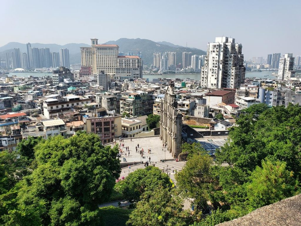 Vista da Fortaleza do Monte Macau