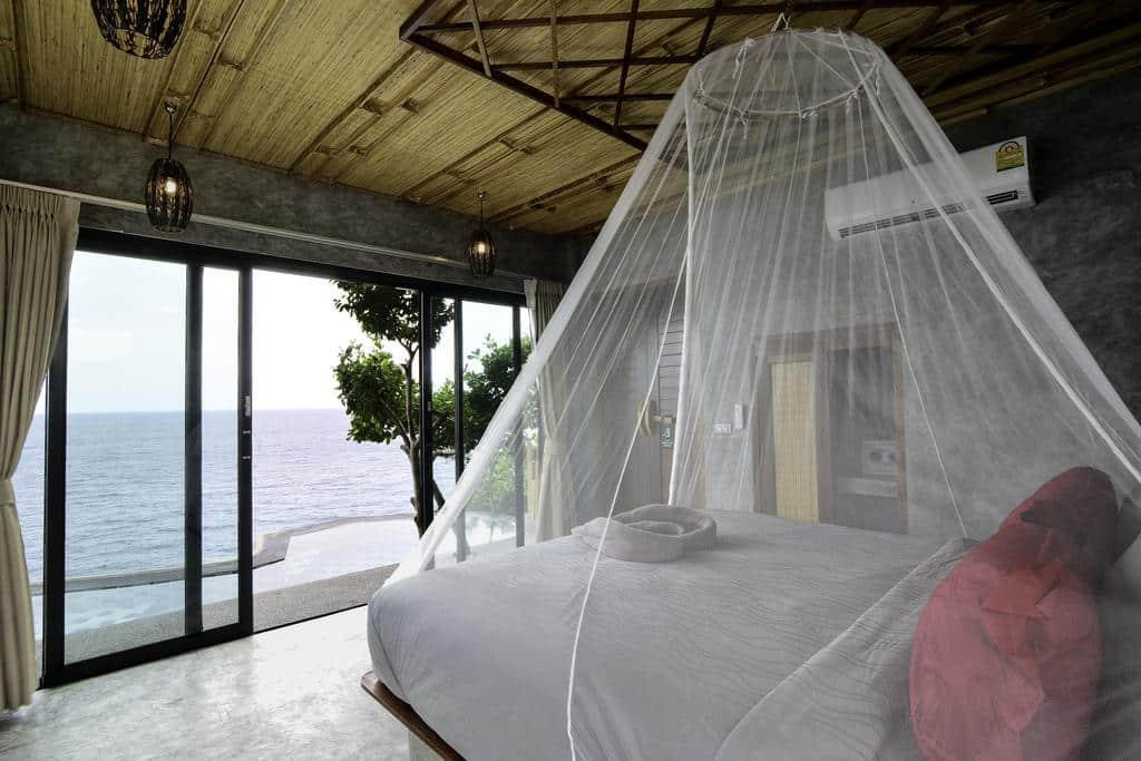 hotel em koh tao com vista para o mar