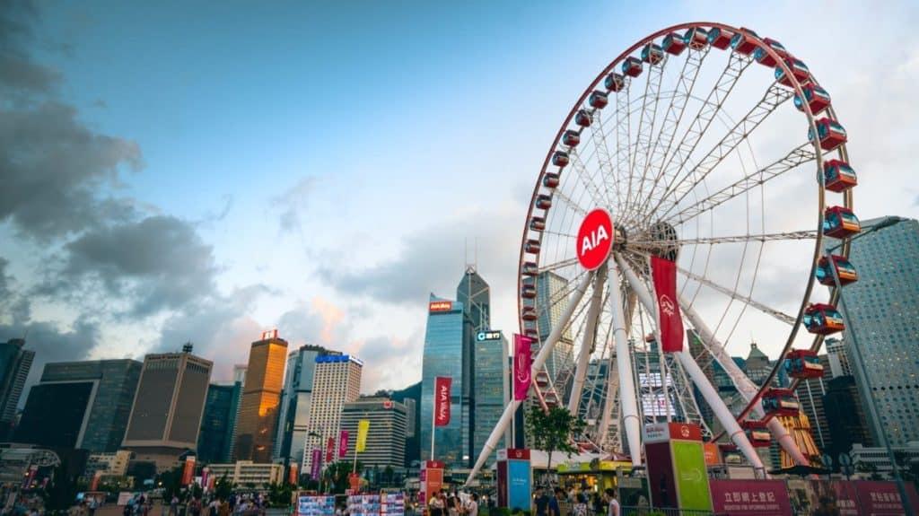 roda gigante de hong kong, onde ver hong kong do alto