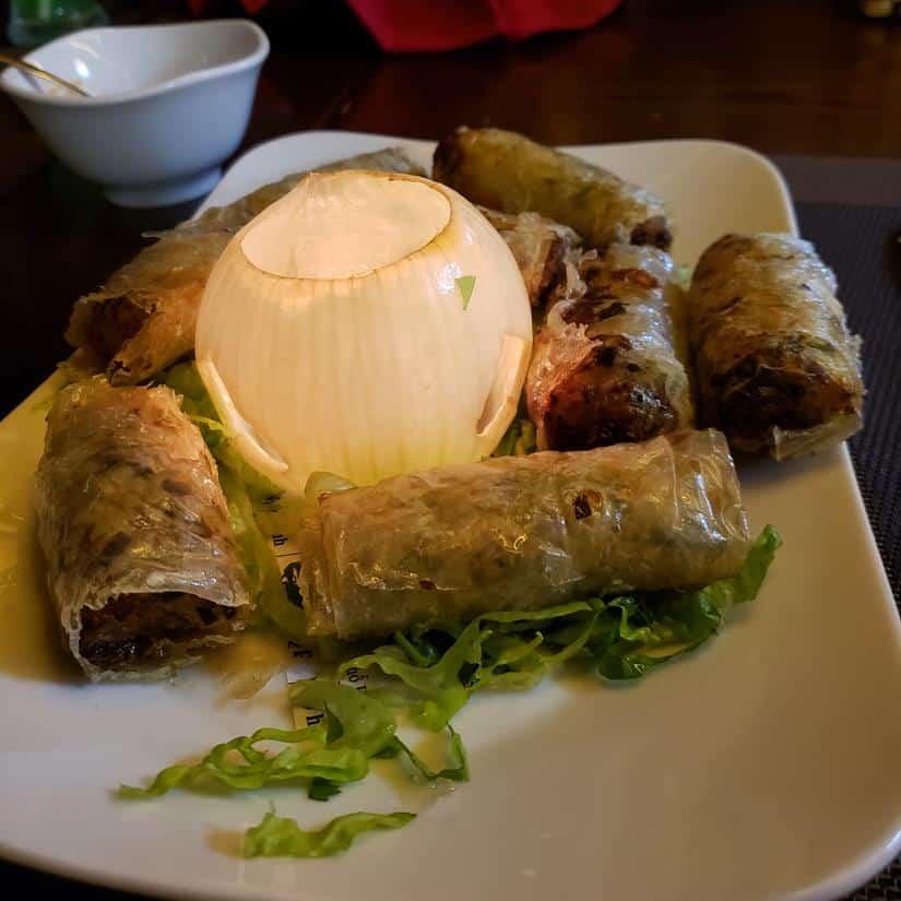 aua de culinária em halong bau