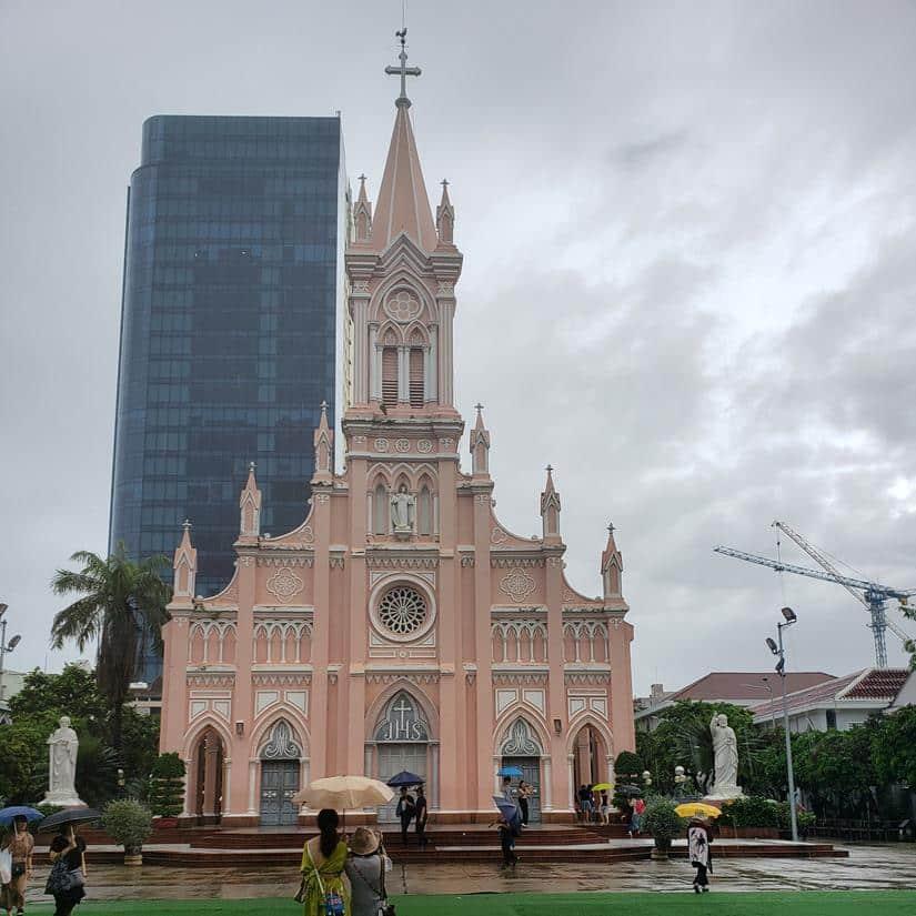 Igreja cor de rosa em da nang