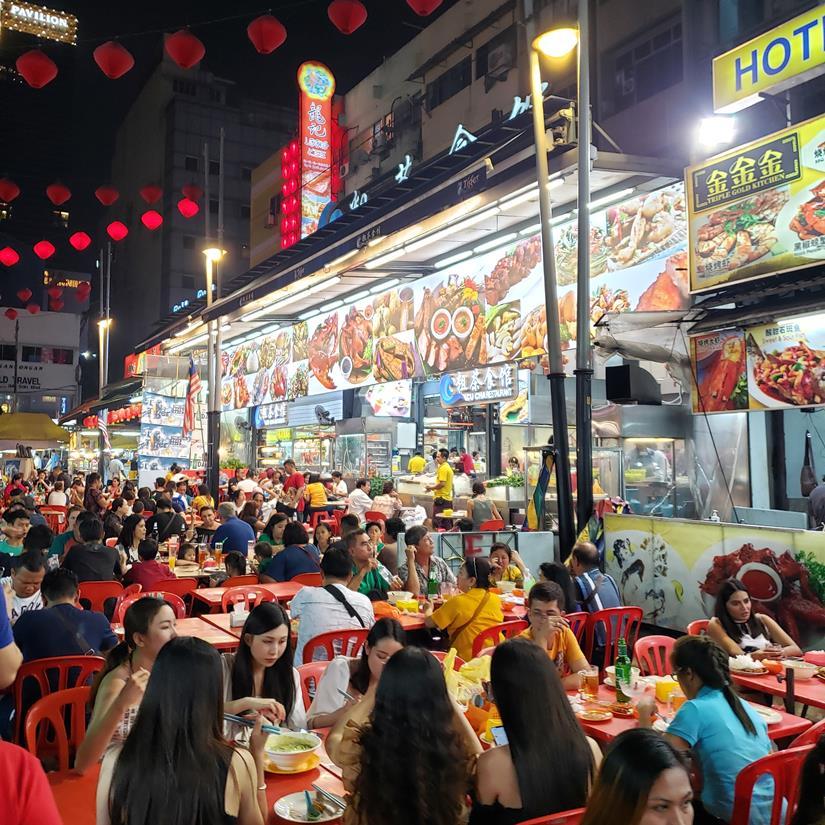 onde comer em kuala lumpur - Jalan Alor Night Market
