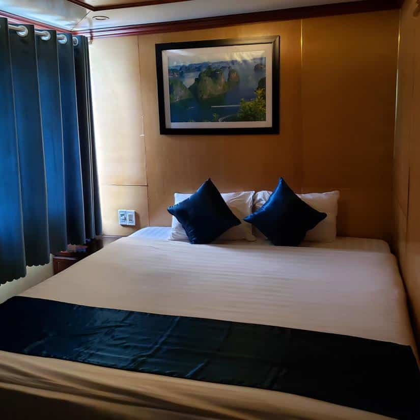 como é o quarto do lavander cruise halong bay