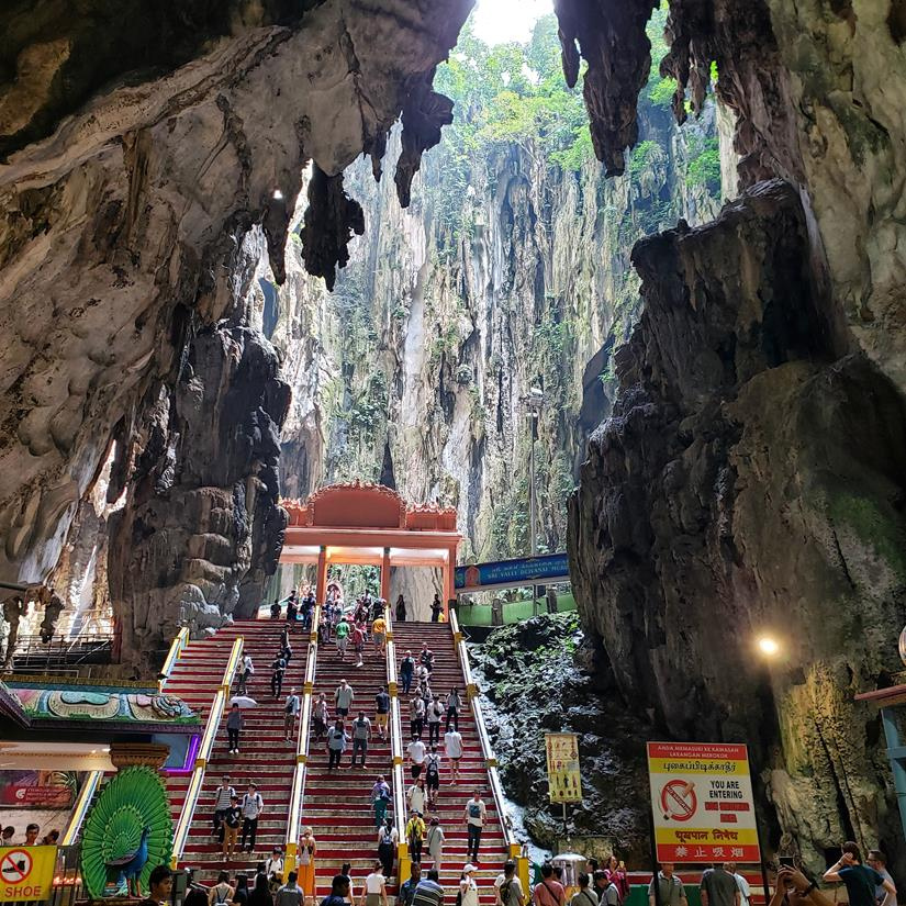 como é o Interior Batu Caves