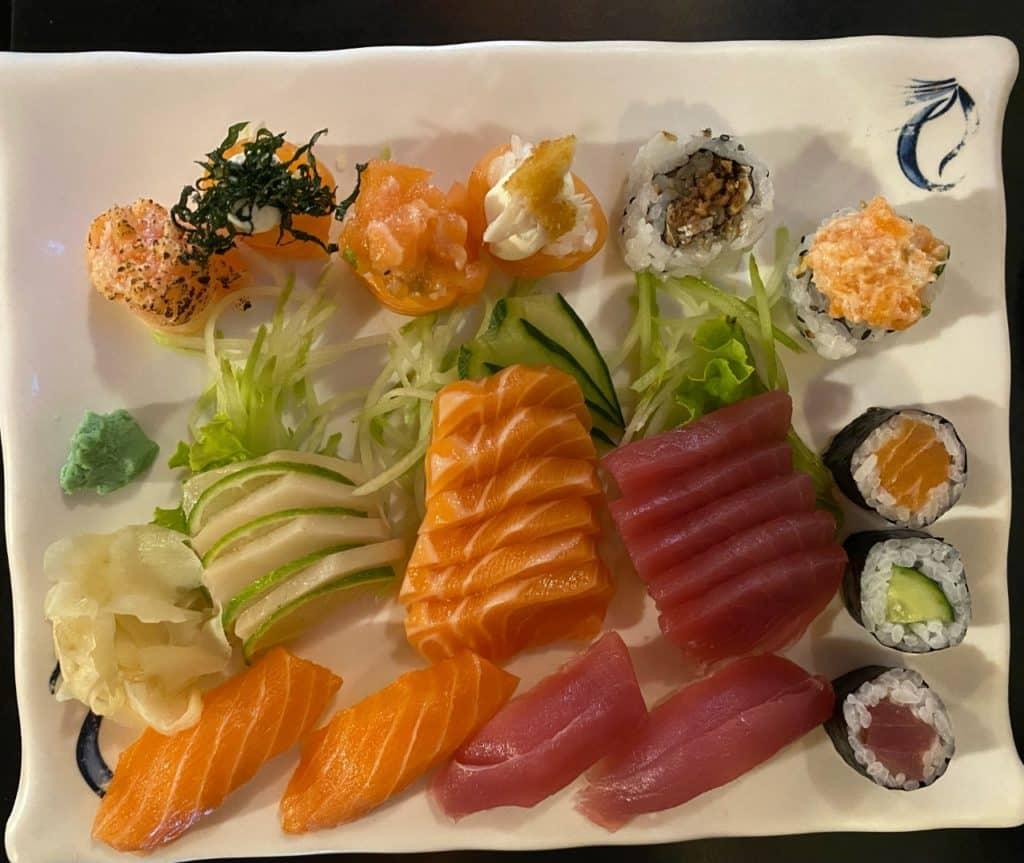 sushis e sashimis, suzaku são paulo